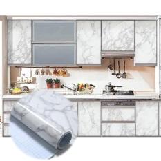 Granit Marmer Pola Stiker Dinding Decal Wallpaper Rumah Ruang Tamu Dekorasi-Internasional