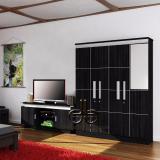 Promo Graver Furniture Lemari Pakaian 3 Pintu Cermin Meja Tv Paket Ekonomis Murah