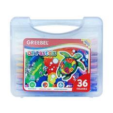Review Greebel Oil Pastel Crayon 36 Warna Greebel