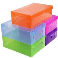 Harga Green Apple Kotak Sepatu Transparant Warna 6Pc Lengkap