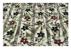 Hijau Haze Batik Bedspread dengan Bunga Cetak-Katun Murni dengan Bantal Sarung-Internasional