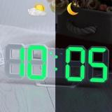 Jual Hijau Led Nomor Digital Jam Dinding Dengan 3 Tingkat Kecerahan Alarm Tunda Clock Intl Not Specified