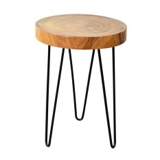 Green Wall Meja Kayu Sudut / Natura Freeform Side Table (Small) - Natural