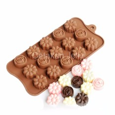 Griya Cetakan Coklat Puding Jelly Mini Mix Flower 15 Cavity I Silicone