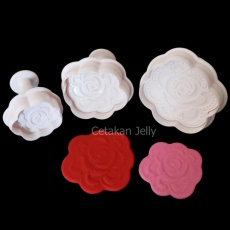 Griya Cetakan Rose Plunger - Putih
