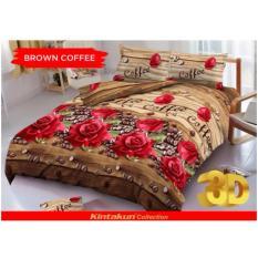 Grosir Sprei Kintakun D'luxe 180x200 Brown Coffee ( King size ) Murah