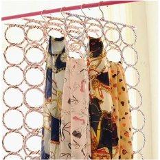 Grosir Station - Gantungan Jilbab Bulat Origami 28 Ring / Syal Scarf Belt / Gantungan Hijab Unik Murah