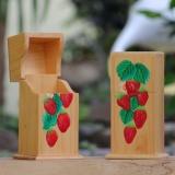 Cuci Gudang Gs4 Woodcraft Tempat Sendok Dengan Penutup Strawberry