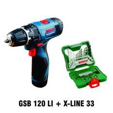 Jual Gsb 120 Li Cordless Drill X Line 33 Set Branded Original