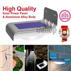 Gshop Solar LED Wall Lights 16 LED Waterproof Lampu Outdoor Led Tenaga Surya