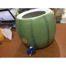 Guci Air Keramik Motif Semangka / Water Dispenser Porcelain - Q0ja8a