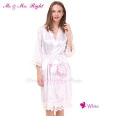 Gx Mr & Amp; mrs Kanan Satin Pernikahan Renda Jubah Modis Pengantin Gaun Pengiring Pengantin Polos Piyama Renda Baju Jubah Mandi Kimono Piyama Set-Internasional