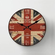 Halos Creation - Jam Dinding Kayu 38 Cm London Flag de4c30f1f9