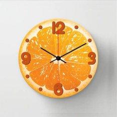 Halos Creation Jam Dinding Orange Fruit 30 Cm Diskon Akhir Tahun