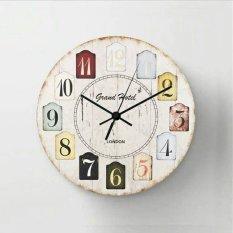 Beli Halos Creation Jam Dinding Vintage White Number Seken