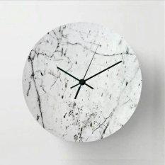 Toko Halos Creation Jam Dinding White Marble 30 Cm Jawa Timur