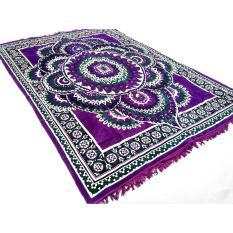 Gokusagi - Karpet Permadani / Alas Lantai / Hambal Turki  Bulu / Beludru 200 cm x 300 cm - Motif Bunga Bulat