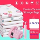 Jual Pompa Tangan 6 Paket Premium Vacuum Storage Bags Bekerja Dengan Vacuum Cleaner Free Hand Pompa Untuk Perjalanan Double Zip Seal Dan Triple Seal Storage Organisasi Untuk Kompresi Pack Intl Satu Set