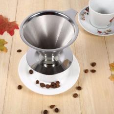 Harga Handheld Tahan Lama Stainless Steel Single Cup Coffee Dripper Dengan Stand Holder Intl Yang Murah Dan Bagus