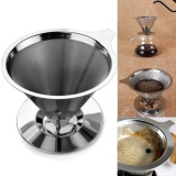 Penawaran Istimewa Handheld Tahan Lama Stainless Steel Single Cup Coffee Dripper Dengan Stand Holder Intl Terbaru