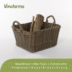 Viroforms Keranjang Rotan Sintetis Hollow Medium (M) Palm - Food Grade