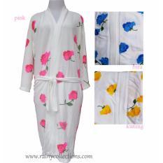 Spesifikasi Handuk Kimono Dewasa Motif Bunga Mawar 3 Warna Bagus
