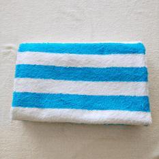 Jual Handuk Mandi 70Cm X 140Cm Stripe Turquoise Putih Indonesia Murah