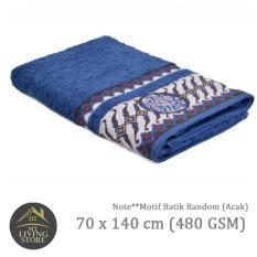 Spesifikasi Terry Palmer Handuk Motif Batik Bath Towel 70 X 140 Cm 480 Gsm Biru Murah