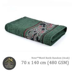 Harga Terry Palmer Handuk Motif Batik Bath Towel 70 X 140 Cm 480 Gsm Hijau Paling Murah