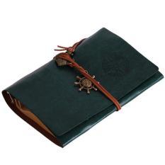 Promo Hang Qiao Vintage Kulit Key Blank Diary Notebook Sketsa Hijau Akhir Tahun