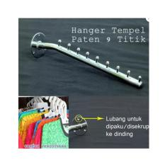 Hanger Baju Hanger Seruling Tempel 9 Titik Lurus