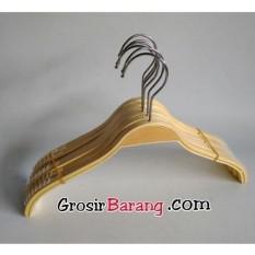 Hanger Kayu  butik hanger dress gantungan baju anti slip murah