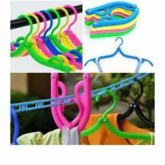 Hanger Lipat Baju Travel Gantungan Jemuran Pakaian Multifungsi Laundry Kebersihan Underwear Jemur Celana Munafie