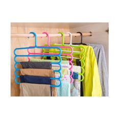 hanger susun 5 laundry gantungan multifungsi Scarf