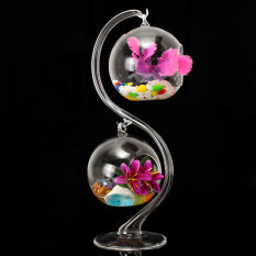Jual Hanging Glass Flower Plant Vases Hydroponic Container Terrarium Stand Holder Antik