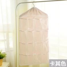 Hanging Storage Bag Lemari Dinding Transparan Gantung Tas Lemari Penyimpanan Kantong Di Belakang Dinding Fabric Storage Bag-Intl
