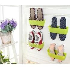 Hiasan Gantung Dinding Rak Sepatu Pintu Dinding Vertikal DIY Rak Sepatu Sepatu Kamar Mandi Rak-Internasional