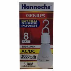 Hannoch Lampu LED Emergency Genius 8 Watt