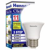 Promo Hannochs Click And Dim 11 W Cool White 3 Pcs Hannochs Terbaru