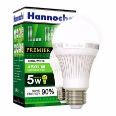 Hannochs LED 5W Kotak Hijau -Putih - 3 Pcs