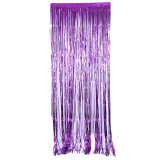 Harga Hanyu 245 92 Cm Perada Shimmer Foil Pintu Tirai Pesta Ulang Tahun Dekorasi Ungu Yang Murah Dan Bagus