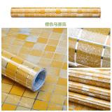Spesifikasi Hanyu Dapur Anti Minyak Mosaik Stiker Aluminium Foil Yg Adhesive Wall Sticker Kertas Oranye Lengkap Dengan Harga