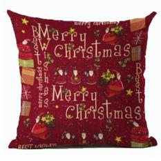 Hanyu Baru Dekorasi Rumah Natal Xmas Pesta Halloween Bantal Bantal Bantal Sofa Pillow Covers 11 #-Intl