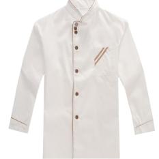 Hanyu Pekerjaan Dapur KOKI Lengan Baju Seragam Yang Panjang And Juru Masak Keseluruhan Putih