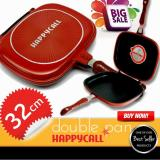 Spesifikasi Happy Call 32 Cm Double Pan Grill Panci Anti Lengket Happy Terbaru