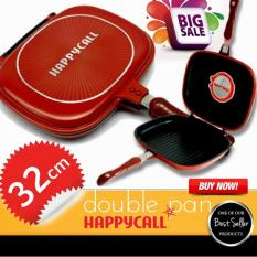 HAPPY CALL 32 CM Double Pan Grill Panci Anti lengket