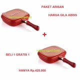 Review Terbaik Happy Call Alat Masak Serbaguna Double Pan Jumbo 1 1 32 Cm Paket Arisan