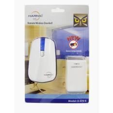 Bel Pintu Door Bell Wireless Remote tanpa Baterai 2 in 1 Function Bell dan Night Light Heles Harnic - D 070K