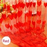 Ulasan Lengkap Tentang Berbentuk Hati Pernikahan Tirai Dekorasi Tirai Line Tirai Merah