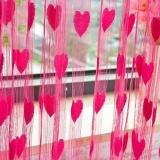 Ulasan Berbentuk Hati Pernikahan Tirai Dekorasi Tirai Line Tirai Rose Merah